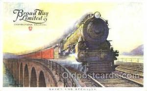 Broad Way Limited, Pennsylvania, USA Train Trains, Postcard Postcards  Broad ...