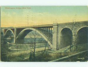 Divided-Back BRIDGE SCENE New York City NY HJ1337
