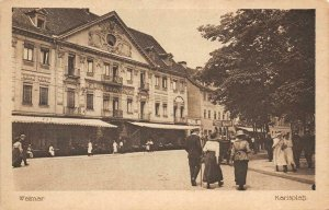 WEIMAR Karlsplatz Furstenhof Germany c1910s Vintage Postcard