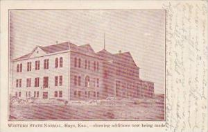 Kansas Hays Western State Normal Showing Additions Now Being Made 1908