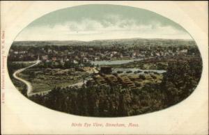 Stoneham MA Birdseye View c1905 Postcard