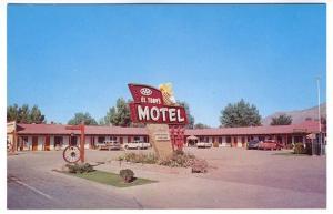 Winnemucca NV El Tony's Motel Woodie Old Cars Lodging Postcard