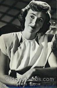 Phyllis Thaxter Actor, Actress, Movie Star, Postcard Post Card Actor Actress,...