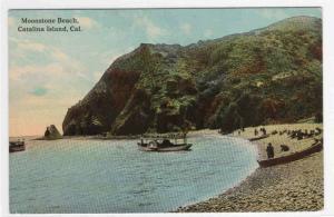 Moonstone Beach Catalina Island CA 1910c postcard