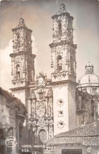 TAXCO GUERRERO MEXICO la EGLISIA CATHERAL~FEMA REAL PHOTO POSTCARD 1940s