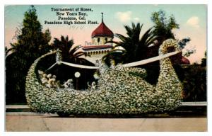 Pasadena High School Float, Tournament of Roses, New Years Day Postcard