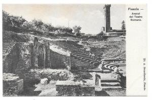Italy Fiesole Avanzi Teatro Romano Vtg Brunelleschi Postcard