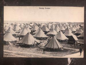 Mint USA Real Picture Postcard RPPC WW1 Camp Scene