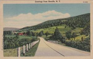New York Greetings From Onoville 1953 Curteich