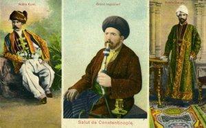 turkey, CONSTANTINOPLE, Noble Kurdish & Indian Men, Winemaker (1899) Postcard
