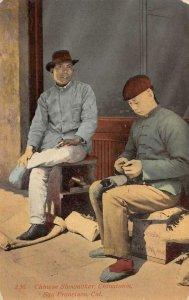 Chinese Shoemaker, Chinatown, San Francisco, CA c1910s Vintage Postcard