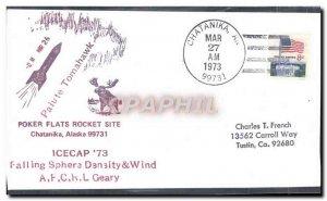 Letter US Poker Flats Rocket Site Chatanika Alaska March 27, 1973