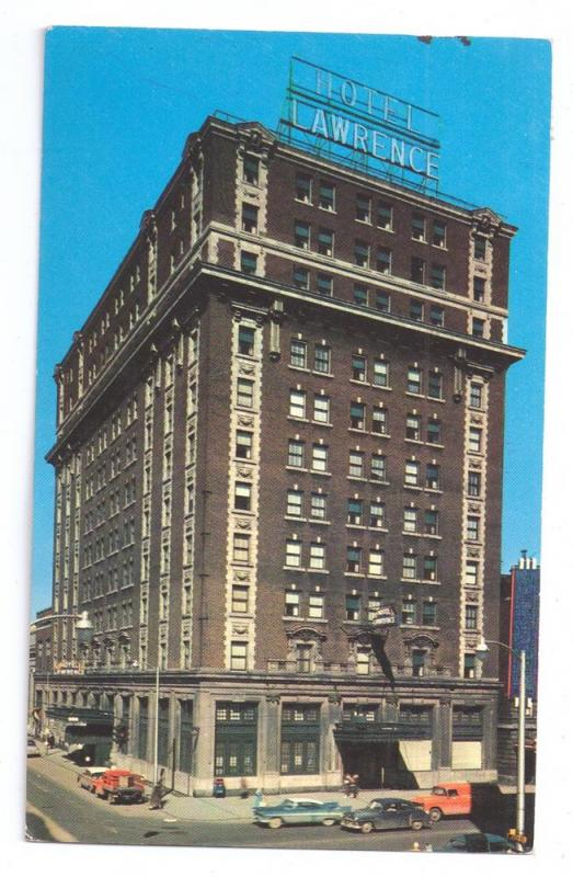 Lawrence Hotel Erie PA Pennsylvania Chrome Postcard 1968