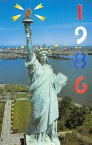 New York City Statue Of Liberty 1986 Hold To Light Vintage Postcard K38855