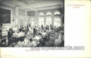 Grand Hotel National, Grand Restaurant Lucerne Swizerland Unused