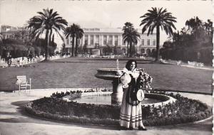 France Nice Une Nicoise dans les Jardins Albert 1st  Photo