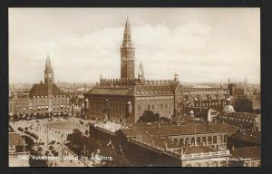 View from Axelborg Copenhagen Denmark RPPC unused c1920's