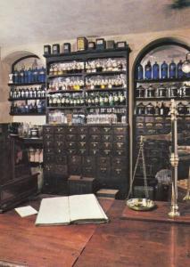 Clarksons Chemist Scales Medicine Stockton On Tees Yorkshire Museum Postcard