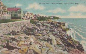 Maine York Beach Rocks & Surf Union Bluffs