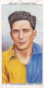 Wills Vintage Cigarette Card Association Footballers No 43 J E Stephenson Lee...