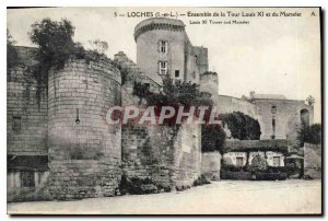 Old Postcard Loches L and L Set the Tower Louis XI and Gavel