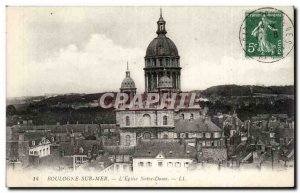 Old Postcard Boulogne sur Mer L & # 39eglise Notre Dame