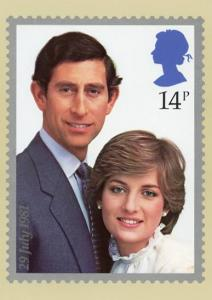 Prince Charles & Lady Diana, The Royal Wedding, July 29, 1981. Reproduction o...