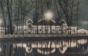 CHICAGO, Illinois, 1900-10s ; Forest Park , The Casino at night