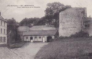 MONTREUIL SUR MER, Pas De Calais, France, 1900-1910s; Cour Interieure De La C...
