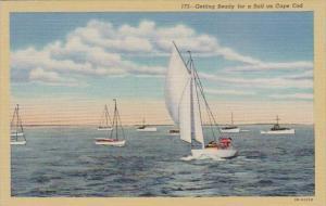 Massachusetts Cape Cod Gettings Ready For A Sail Curteich