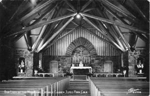 Estes Park Colorado Catholic Church Interior Real Photo Antique Postcard K101350