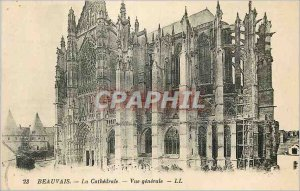 Old Postcard Beauvais Cathedral General view
