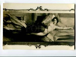 257138 NUDE Woman BELLE on Pillow by PENOT Vintage SALON #7941