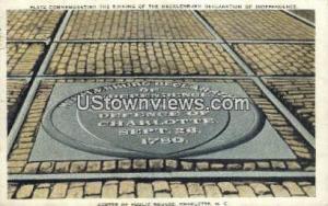Mecklenburg Declaration Independence Charlotte NC 1935