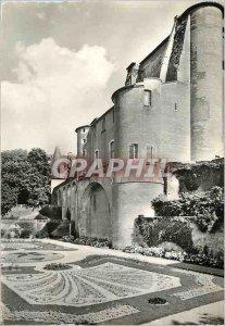 Modern Postcard Albi Garden of Archeveche and Albi doors