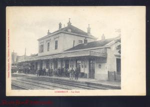 COMMERCY FRANCE LA GARE RAILROAD DEPOT TRAIN STATION VINTAGE POSTCARD