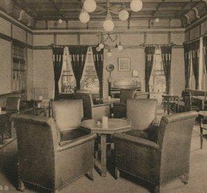 Nara Hotel Japan Smoking Room MCM Light Chairs Postcard