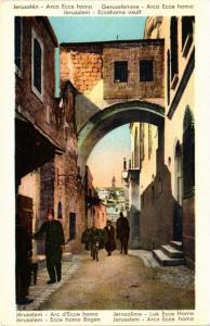 CPA AK JERUSALEM Ecce homo Bogen ISRAEL (752087)