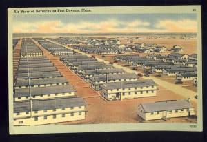 Fort Devens, Ayer, Massachusetts/Mass/MA Postcard, Air View Of Barracks