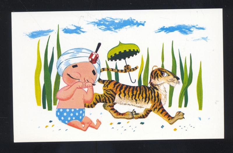 SAMBO'S RESTAURANT PICTURE STORY SERIES ADVERTISING POSTCARD TIGER BOY