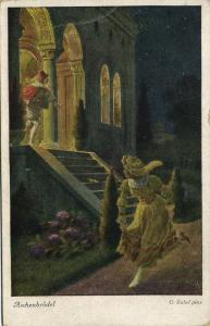 Artist Signed Otto Kubel, Fairy Tale, Cinderella Aschenbrödel (1930)