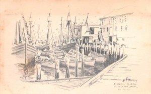 Fishing Boats Gloucester, Massachusetts Postcard