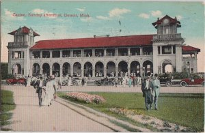 DETROIT MI - CASINO at BELLE ISLE on Sunday afternoon 1909 view / CROWDS + more