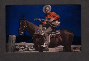 Penny Arcade Card (not a postcard) Monte Hale Cowboy Movie Star Horses Guitar