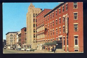 Rutland, Vermont,VT Postcard, Looking West On Center Street, 1950's Cars