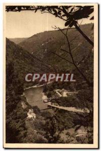 Postcard Old St Martin's Meanne (Correze) View of the bridge Eylac Road St Pr...