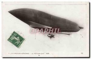 Old Postcard Aviation Zeppelin Airship 1908 The Republic