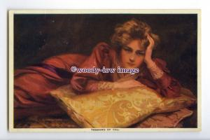 gla0101 - Glamour - Thinking of You - artist Philip Boileau - postcard