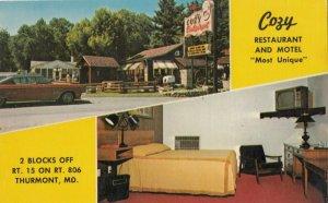 THURMONT, Maryland , 1950-60s ; Cozy Restaurant & Motel