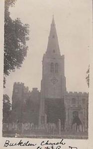 Buckdean Church Antique Real Photo Yorkshire Postcard